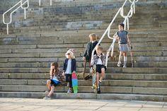 Skateboard girls series. Children's fashion editorial. Photo Katrina Tang