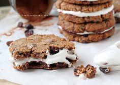 Grain Free No 'Oatmeal' Creme Pie Cookies W/Marshamallow Cream (Egg/Dairy/Grain Free, Vegan Options)