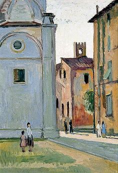 The Duomo in Lucca, Italy by Vanessa Bell  ca.1949