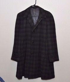Vintage Mens Gray Wool Blend Car Coat Jacket Size Medium Berkeley Hall Denver #BerkeleyHallDenver #BasicCoat
