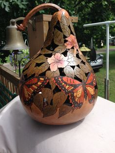 beautiful custom designed gourds. with or by CustomGourdsbyIda