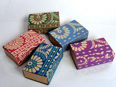 Saree border Match boxwedding favor box Packaging by indianbazzaar, $8.50