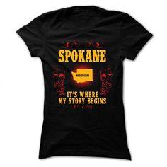 Spokane - Its where story begin - #tshirt sayings #burgundy sweater. MORE ITEMS => https://www.sunfrog.com/Names/Spokane--Its-where-story-begin-Black-Ladies.html?68278