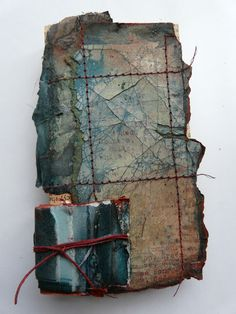 Tricia North, encaustic and stitch on paper. Mixed Media Collage, Collage Art, Land Art, Creation Art, Textiles, Art Textile, A Level Art, Paperclay, Handmade Books