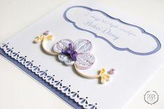 Ręcznie robiona imienna kartka urodzinowa ze stroczykiem quilling handmade