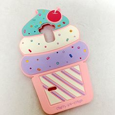 Cute 3D Cherry Ice Cream Silicone Soft Case Bumper Back Cover For smart cell phones ZTE CarryZTE Z MAX PRO -- Check out this great product.