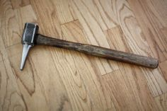 Ah the most valuable tool for making handled tools. Hammer eye punch I forged from H-11