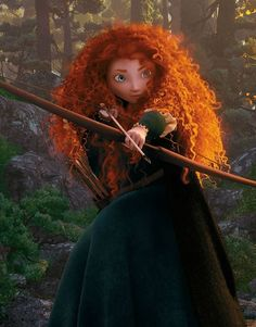 Day 10 Best Hair: Merida I love how her hair is different from any other Disney princess'. I mean what other Disney princess has curly red hair? Disney Dream, Disney Magic, Disney Art, Disney Movies, Disney Characters, Face Characters, Disney And Dreamworks, Disney Pixar, Merida Disney