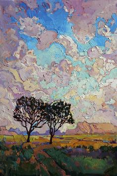 Small but powerful painting of Arizona's high desert, by Erin Hanson
