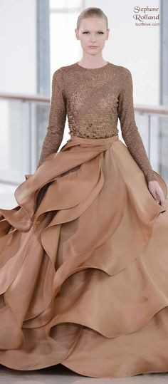 Stephane Rolland Spring 2015 Haute Couture Collection was held at the Maison de la Radio in Paris & features elegant & contemporary designs. Couture 2015, Haute Couture Dresses, Couture Fashion, Runway Fashion, High Fashion, Beautiful Gowns, Beautiful Outfits, Beautiful Clothes, Glamour