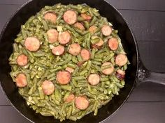 Generous seasoning makes this buttery Cajun Smothered Green Beans With Sausage a soul-warming side dish or light, one-pot meal. Cajun Recipes, Sausage Recipes, Dog Food Recipes, Keto Recipes, Cooking Recipes, Cajun Food, Ketogenic Recipes, Cajun Cooking, Veggie Recipes