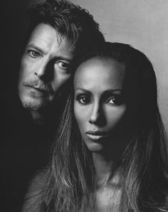 A two for one pin: David Bowie & Iman. They looked beautiful when they were younger, in this photo, and I still think they are beautiful. Oh, to have great genes....