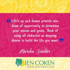 Don't your obstacles crush you, crush them by stepping on them to your next opportunity!