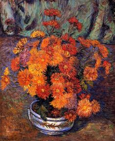 """""""Armand Guillaumin - Vase Of Chrysanthemums """""""