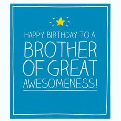 Brother Of Great Awesomeness Card