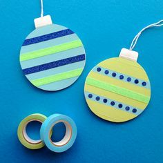 Omiyage Blogs: DIY Washi Tape Ornament Card & Gift Tags