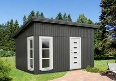 Diy Cabin, Door Sets, Water Toys, Unique Gardens, Cabins In The Woods, Types Of Wood, Wood Paneling, Cladding, Windows And Doors
