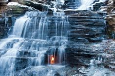 Eternal flame falls    Chestnut Ridge Park  Orchard Park, New York