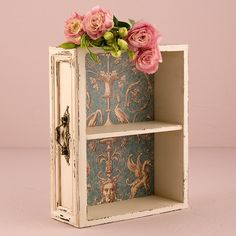 Vintage Inspired Display Drawer with Shelf for your vintage themed wedding or decoration #vintage