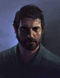 Joel from The Last of Us by DziKawa on DeviantArt Fantasy Male, Fantasy Warrior, Fantasy Rpg, Character Concept, Character Art, Concept Art, Fantasy Portraits, Character Portraits, Dnd Characters