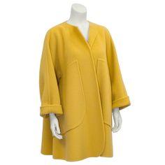 Mustard Double Face Wool Coat