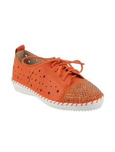 f10066290e51 Buy Metro Orange Synthetic Leather Casual Shoes online