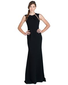 EG1446Mesh Inset Back Evening Gown by Badgley Mischka