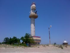 Sulina lighthouse from the beach.