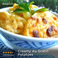 """""""Can you say...disappeared faster than a speeding bullet?"""" —chynook73   """"Like"""" if the potato-cheese combo always goes fast around you, too. (Creamy Au Gratin Potatoes) http://allrecipes.com/recipe/Creamy-Au-Gratin-Potatoes/Detail.aspx?lnkid=7171"""