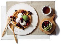waffle w ice cream yummm
