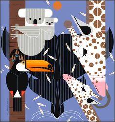 Animales Varios Vintage Charley Harper