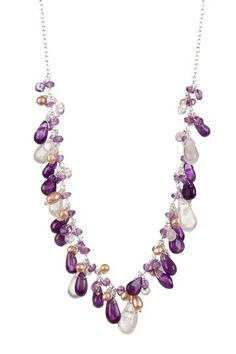 Sterling Silver Multi-Stone & Pearl Necklace by Candela on @HauteLook