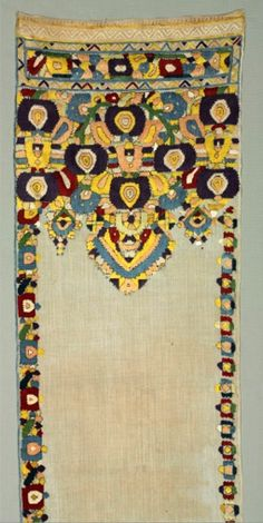 "Africa | ""Tensifa"" (Ceremonial Scarf used to Decorate the Mirror of Bride's Chamber 