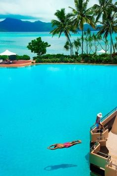 Hayman Island Resort in the Whitsunday Islands on the edge of the Great Barrier Reef in Queensland, Australia. #travel #bucketlist