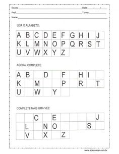 Alphabet Tracing Worksheets, Printable Preschool Worksheets, Worksheets For Kids, Alphabet Activities, Preschool Learning Activities, Book Activities, French Language Lessons, Preschool Coloring Pages, Preschool Writing