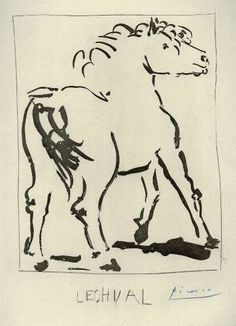 picasso horse - Google Search Picasso Sketches, Pablo Picasso Drawings, Art Drawings, Picasso Prints, Picasso Paintings, Horse Tattoo Design, Tattoo Designs, Picasso Images, Spanish Artists