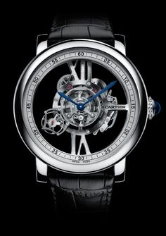 Watches by SJX: Pre-SIHH Introducing The Rotonde de Cartier Astrotourbillon Skeleton - A Floating, Orbital Tourbillon (With Specs And Pricing) High End Watches, Best Watches For Men, Fine Watches, Luxury Watches For Men, Cool Watches, Patek Philippe, Breitling, Silver Pocket Watch, Skeleton Watches