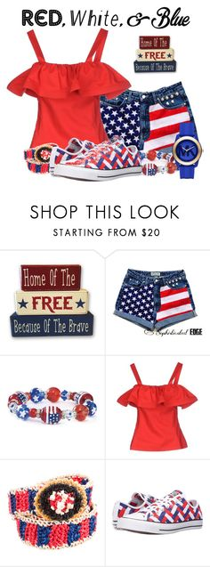 """""""Red, White and Blue Contest"""" by tlb0318 on Polyvore featuring Lorella Signorino, Prada, Converse and Michael Kors"""