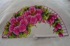 Resultado de imagen de abanicos decorados a mano