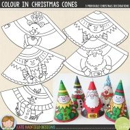 Christmas Craft: Colour In Christmas Cones Christmas Craft: Colour In Christmas Cones Easy Christmas Cone craft for kids! Just print, cut out and colour in! Christmas Cones printables from Kate Hadfield Designs Jon Haber - Preschool Christmas, Noel Christmas, Christmas Activities, Christmas Crafts For Kids, Christmas Printables, Christmas Colors, Christmas Projects, Simple Christmas, Winter Christmas