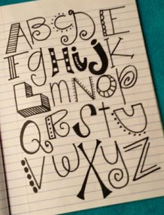 Fun handwriting font ideas (because I can't make this happen without a picture!)                                                                                                                                                     More