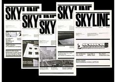 skyline magazine design by Massimo Vignelli Paula Scher, Massimo Vignelli, Map Design, Logo Design, Graphic Design, Design Lab, Nyc Subway Map, International Typographic Style, Typography Design