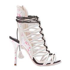 Sophia Webster Lacey Gardinia Rose Print Leather Sandal