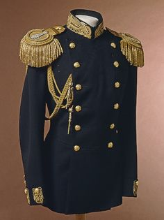 Naval officer's uniform tunic, circa 1900s.