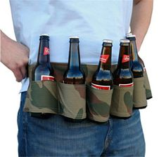 1PC Unisex Sport Travel Climbing Beer Belt Carry Drinks Bag Belt Mountaineering Waist Bag For Parties Bar Drinking Game Gift S2