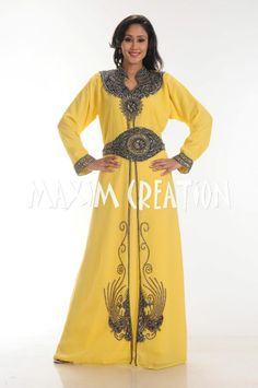 d.no. 3543 Buy this #NEWYELLOWCAFTAN2014  Get the best of #maximcreation today !! original #moroccancaftan #kaftan #caftan is now available online !! #moroccandresses #maroc #artisnat #caftan #ventecaftan #femmemarocaine #takchita #takchita2014 #caftan2014 #abaya #abayakaftan #dubaikaftan but now and get free shipping !! #eidcollection2014 is now here !!
