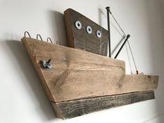 Swordfish Boat - Wooden Ship Art - Wooden Ocean Boat - Moby Dick - Reclaimed Whale Wood Art - Nautical Wood Wall Decor - Pallet design - Moto Tutorial and Ideas Wooden Ship, Wooden Art, Wooden Crafts, Wood Wall Decor, Wood Wall Art, Wood Projects, Woodworking Projects, Furniture Projects, Wood Furniture