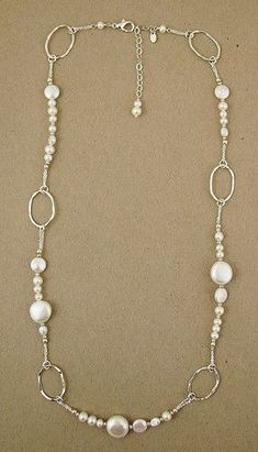 Sterling and white pearl necklace – Offerings Gallery