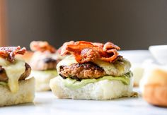 Chipotle Bacon Turkey Sliders