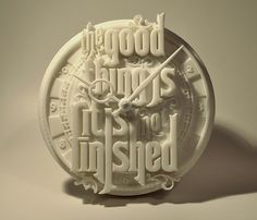 Creative Typography, Printed, Clock, and Diligence image ideas & inspiration on Designspiration Typography Prints, Typography Design, Lettering, Typo Design, Impression 3d, Typography Inspiration, Web Design Inspiration, Design Ideas, Web Design Basics